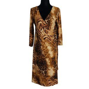 BIANCA NYGARD Animal Print Career Work Dress 10